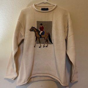 Vintage Horse Sweater Katherine J Size Large NWOT